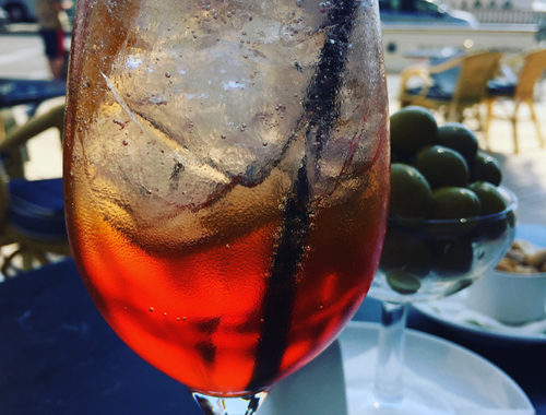 Aperol Spritz with ice
